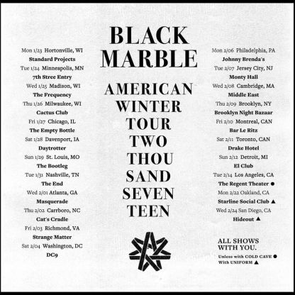black-marble-winter-tour